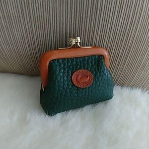 Dooney & Bourke AWL rare Green Kisslock coin purse